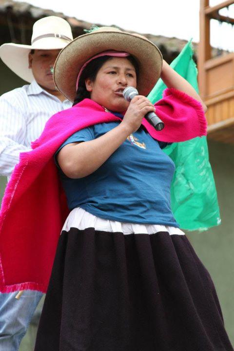 Dirigenta del Distrito de Chetilla, provincia de Cajamarca