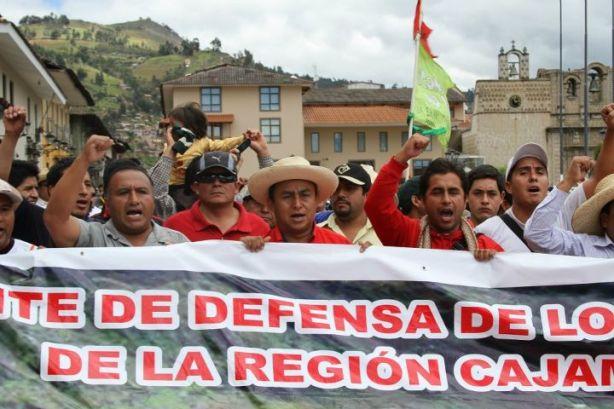 Se reinician protestas contra proyecto minero Conga