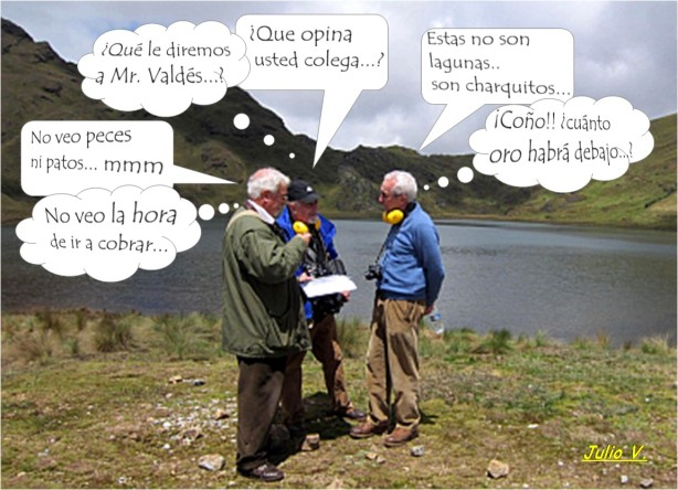 Peritos de Valdés en laguna el Perol