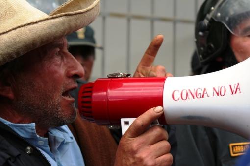 Daniel Gil. presidente Frente de Defensa de Huasmín