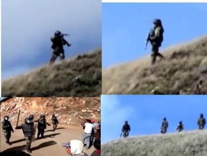 Policia dispara a comuneros en Conga