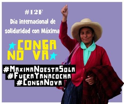 #12F Solidaridad internacional con Máxima