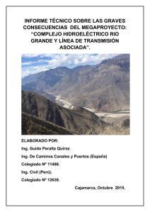 Informe Hidroeléctricas en el marañón
